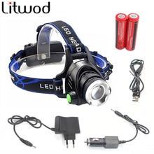 LED Headlight Aluminum 5000lm T6/L2 led headlamp zoom head flashlight adjustable head lamp 18650 battery front light