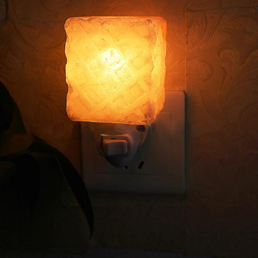 LumiParty Hot Salt Lamp Himalayan Glow Hand Natural Crystal Salt Lamp Night Light Wireless Bulb Replaceable Bedside Night Light eia uus kahe näoga jumal