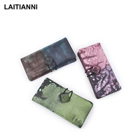 Colorful Wallets Women Handmade String Purses Ladies Genuine Leather Funtional Famous Brand Bags High Quality Female