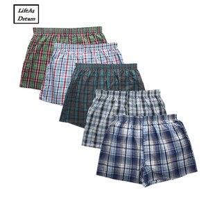 Image 1 - Boxer de 5 Shorts pour hommes, culotte ample pour homme, culotte en coton doux grande flèche, sous vêtements classiques de la maison, collection 2019