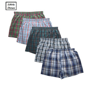 Image 1 - Cueca boxers masculina, 2019, 5 unidades, solta, de algodão, macia, flecha, calças, roupa íntima doméstica, base clássica homens