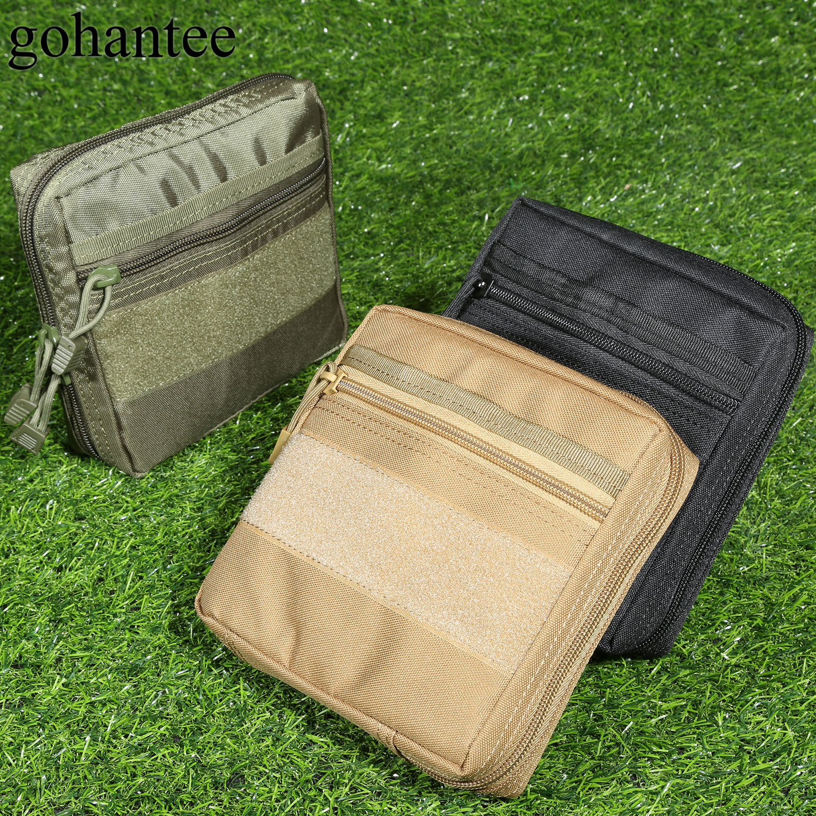 gohantee MOLLE Tactical Pouch Military First Aid Survival Bag Outdoor Emergency Medical Kits EDC Tool Utility Gadget Mag Pocket outlife new style professional military tactical multifunction shovel outdoor camping survival folding spade tool equipment
