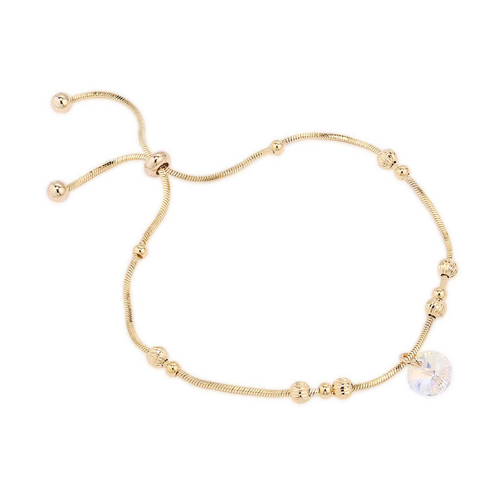 Роскошные Кристаллы от Swarovski браслет серебристый цвет регулируемый круглый шарм браслеты для женщин модные ювелирные изделия 2019 Новинка