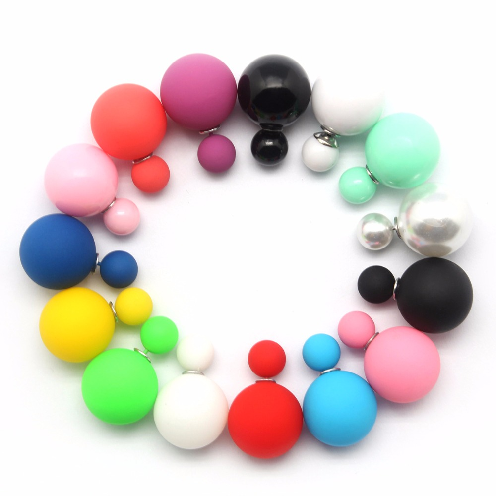 100pcs/set Color Sent Randomly Earrings Two Pearl Beads Elegant Women Girls Bridal Wedding Jewelery Accessories Holiday Gifts