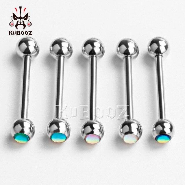 Купить kubooz пикантное кольцо для языка пирсинг шар из нержавеющей