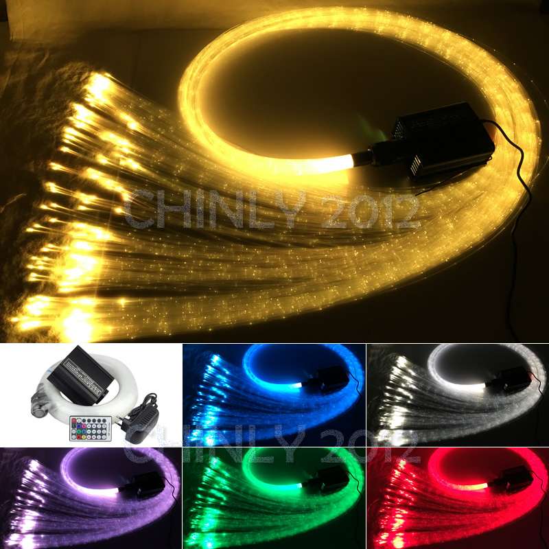 16 W À Distance RGBW fiber optique lumière 300 pcs 1.0mm flash point 3 mètres cascade lumière sensorielle kit