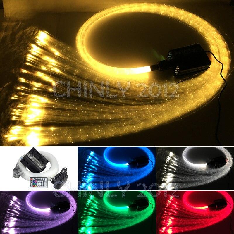 16 W Telecomando RGBW luce in fibra ottica 300 pz 1.0mm punto di infiammabilità 3 metro cascata sensoriale kit luce