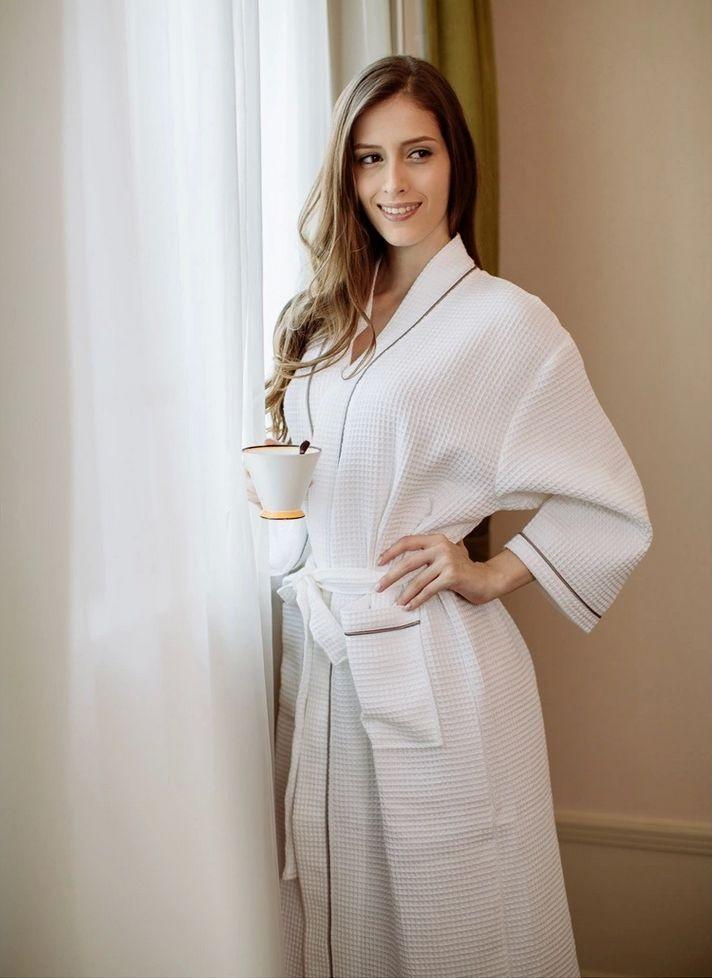 Women\'s Mid-Calf Cotton Sleep Lounge Robes RBS-D RB26 8