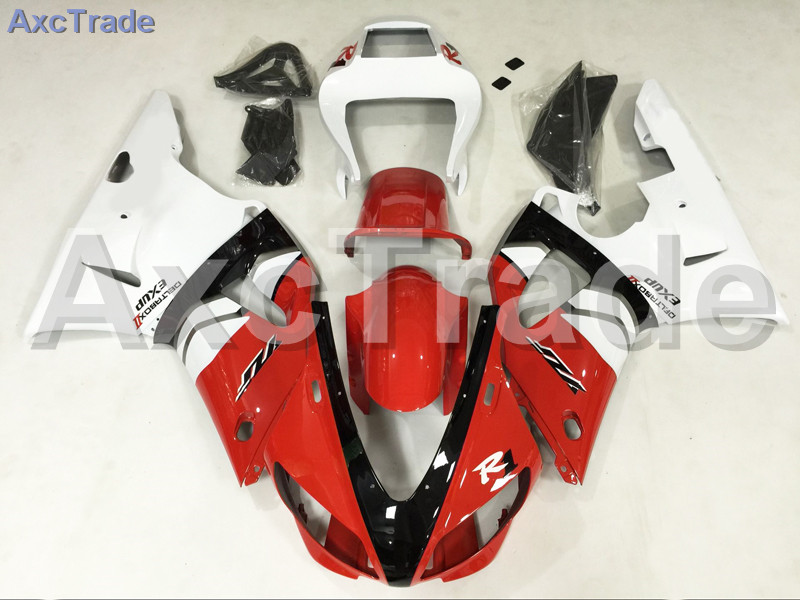 Motorcycle Fairings Kits For Yamaha YZF1000 YZF 1000 R1 YZF-R1 1998 1999 98 99 ABS Injection Fairing Bodywork Kit Red Whtie A859 fit for yamaha yzf 600 r6 1998 1999 2000 2001 2002 yzf600r abs plastic motorcycle fairing kit bodywork yzfr6 98 02 yzf 600r cb20