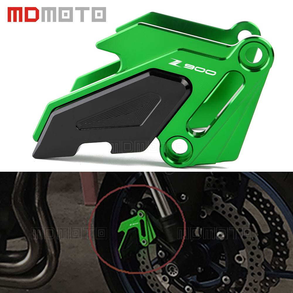 CNC Aluminum Motorcycle Accessories Front Brake Disc Caliper Protector Cover For Kawasaki Z900 Z 900 2017 Brake caliper Guard motorcycle cnc front
