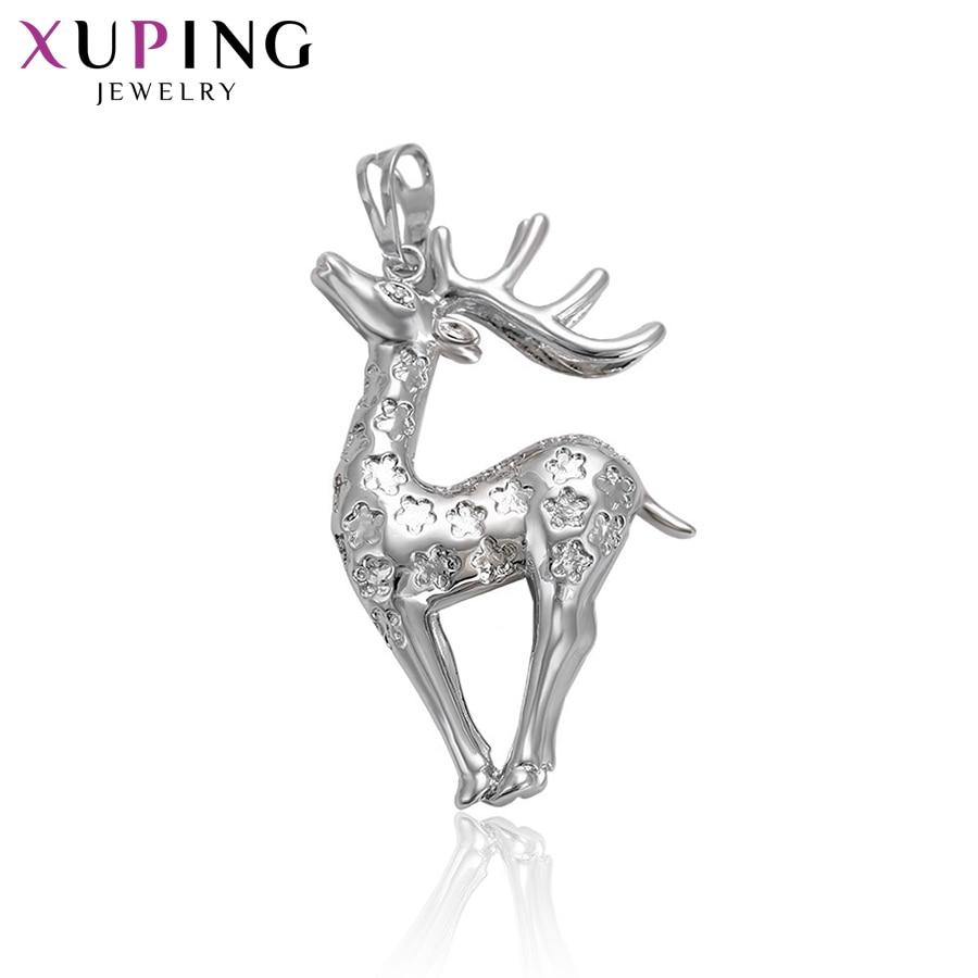 11,11 ofertas Xuping moda Sika Deer forma colgante con Zirconia cúbico sintético para Neutral regalos de navidad S71, 1-32514