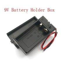 9V Batterij Houder Box Case Met Wire Lead Aan/Uit Schakelaar Cover Case