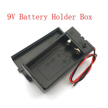9V Battery Holder Box Case with Wire Lead ON/OFF Switch Cover Case
