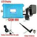 Display LCD GSM 990 900 Mhz Cell Phone Signal Booster Amplificador Repetidor Repetidor Kits Com 10 m cabo + Antena alto Ganho