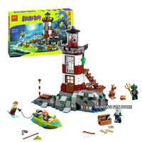 Bela 10431 Fit Legoness 75903 Scooby Doo Haunted Lighthouse Box Animal Dog Figures 437Pcs Building Blocks Toys For Children Gift