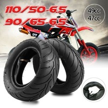 TDPRO 110/50-6.5 Front Motorcycles Tyre Tire+Inner Tube New For Scooter Mini Pocket Rocket Bike Wheel Tires 38cc 47cc 49cc 50cc