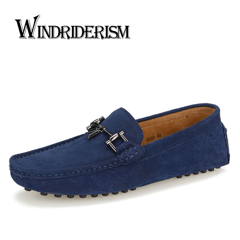 Men Loafers Suede Leather Flats Shoes Slip On Mocassin Chaussures Hommes Gommini Casual Dress Shoes Zapatos Hombre Driving Shoes top brand high quality genuine leather casual men shoes cow suede comfortable loafers soft breathable shoes men flats warm