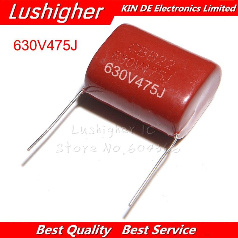 5PCS 630V475J CBB 4.7UF Pitch 30MM 630V 475J 475 CBB Polypropylene Film Capacitor