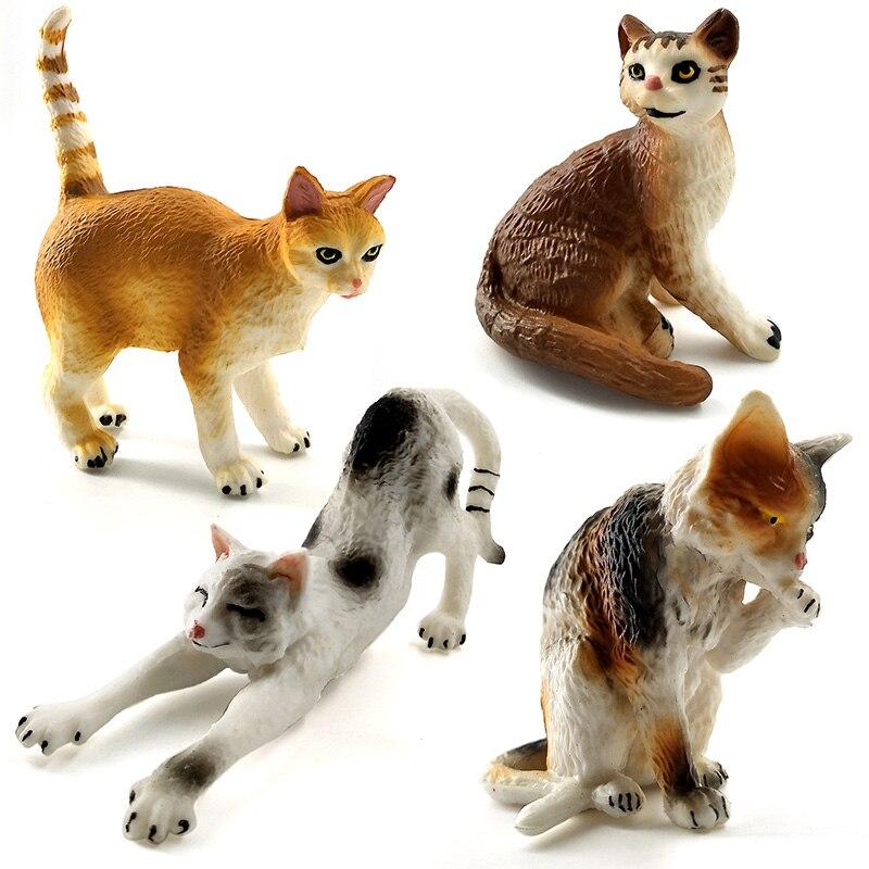 Simulación de granja mini modelo animal del gato pequeñas figuras - Figuritas de juguete - foto 2