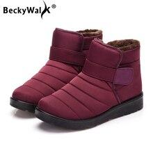 New 2018 women winter shoes unisex snow boots plush inside antiskid wa