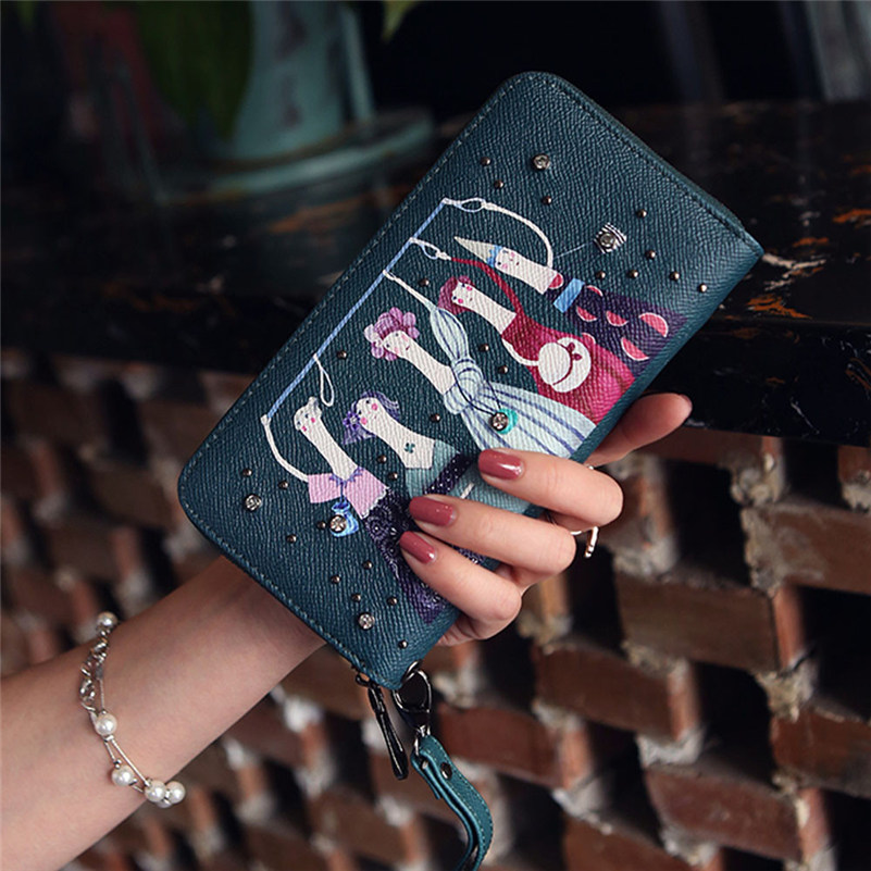 2017 Hot Women Daily Use Clutches Handbag Quality Clutch Purse Fashion Wallet Female High Quality Cute bags Proxy purchase A8