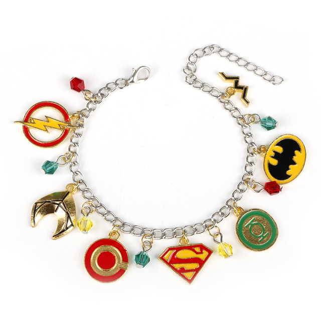 dongsheng dc comics justice league jewelry the flash superman batman