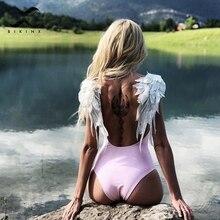 Bikinx, женский купальник с вышивкой в виде крыльев, сдельный бикини, новинка, семейный купальный костюм, сексуальный купальник для женщин и детей, бикини XL