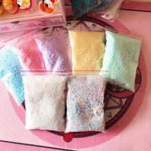 3c28cc0c4 1 paquete de poliestireno bolas DIY botella de nieve barro partículas  accesorios Baba bolas pequeña perlas