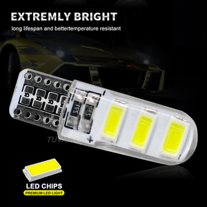 Image 2 - 5x Newest T10 194 168 W5W 6Smd 5730 Car Led Silicone Shell Auto Dome Parking Lights Car Side Wedge Light Lamp Bulb Car Styling