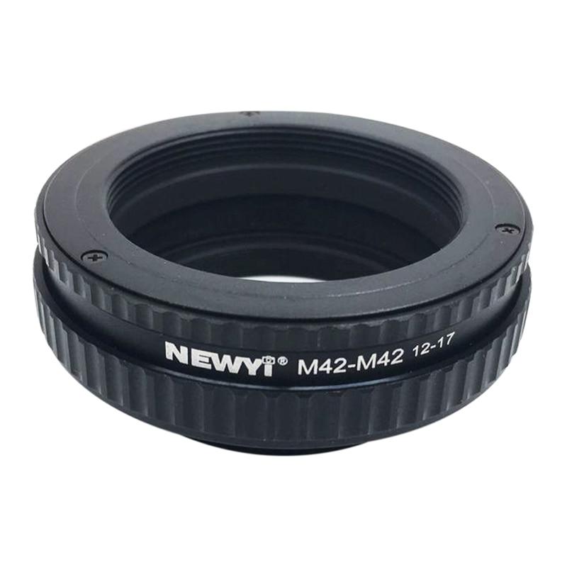 NEWYI M42 к M42 фокусировочное винтообразное кольцо адаптер 12 17 мм Макро Удлинитель камера объектив преобразователь переходное кольцо-in Адаптер объектива from Бытовая электроника
