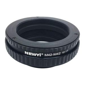 Image 1 - NEWYI M42 に M42 を中心アダプタ 12 17 ミリメートルマクロエクステンションチューブカメラレンズ変換アダプタリング