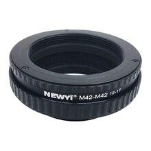 NEWYI M42 כדי M42 התמקדות Helicoid טבעת מתאם 12 17Mm מאקרו הארכת צינור מצלמה עדשת ממיר מתאם טבעת