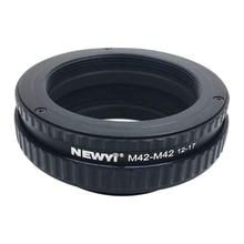 NEWYI M42 TO M42 โฟกัส HELICOID แหวนอะแดปเตอร์ 12 17 มม.มาโครกล้องเลนส์อะแดปเตอร์แหวน