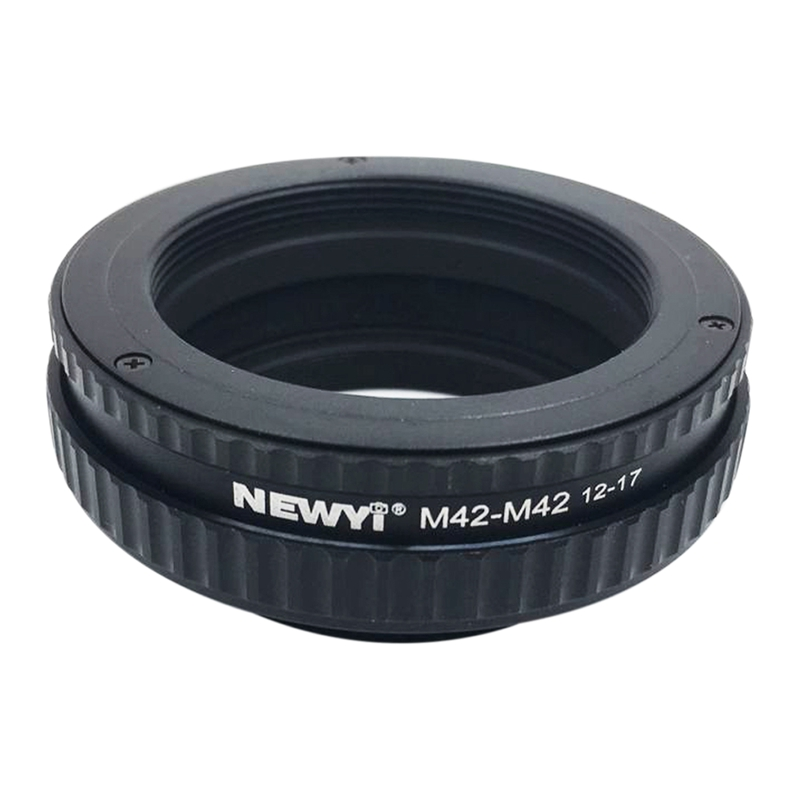 NEWYI M42 To M42 Focusing Helicoid Ring Adapter 12 17Mm Macro Extension Tube camera Lens Converter Adapter Ring-in Lens Adapter from Consumer Electronics