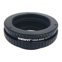 NEWYI M42 To Focusing Helicoid Ring Adapter 12-17Mm Macro Extension Tube camera Lens Converter