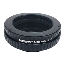 Newyi m42 ~ m42 초점 헬리콥터 링 어댑터 12 17mm 매크로 확장 튜브 카메라 렌즈 변환기 어댑터 링