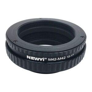 Image 1 - Newyi m42 ~ m42 초점 헬리콥터 링 어댑터 12 17mm 매크로 확장 튜브 카메라 렌즈 변환기 어댑터 링