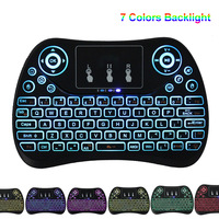 7 Colors Backlight Mini Wireless Keyboard 2 4Ghz Fly Air Mouse Universal Remote Control For Android