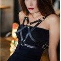 Пастель гот женская кожаная портупея панк подвеска бюстгальтер готический harajuku кожаные ремни бюстгальтер ремни