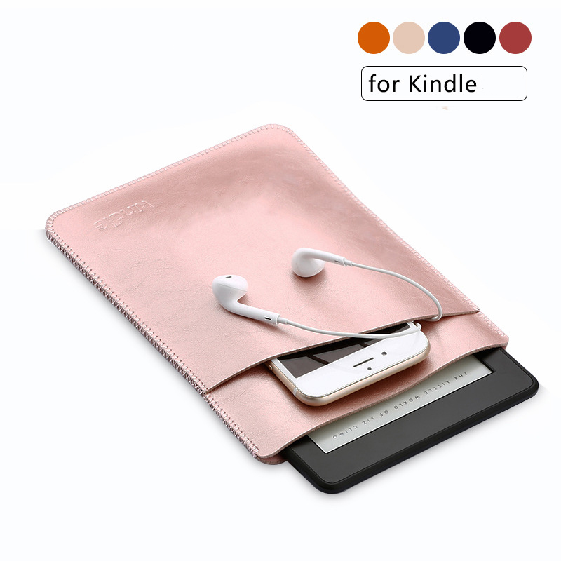 Simple Microfiber Leather Sleeve For Amazon kindle Paperwhite 1/2/3/4 6inch Electronic Book Cover Tablet Protective Case for amazon 2017 new kindle fire hd 8 armor shockproof hybrid heavy duty protective stand cover case for kindle fire hd8 2017