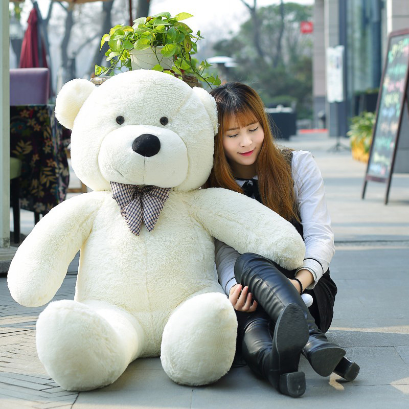 1PC 140cm teddy bear plush toys skin holiday gift birthday gift valentine gift free shipping stuffed animals bear skin kawaii 190cm teddy bear plush toys high quality and low price skin holiday gift birthday gift valentine gift stuffed animals