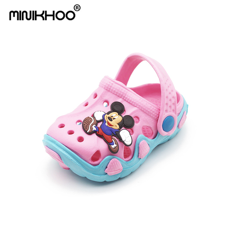 Mini Melissa 6 Color Mickey Pattern Children Garden Sandals 2018 Summer Fashion Children Shoes Cartoon Sandals Kids Sandals