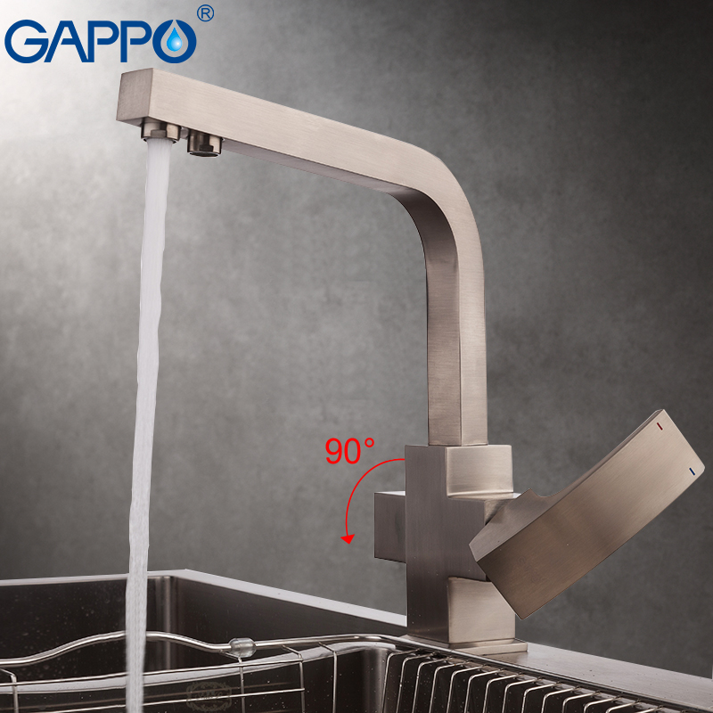 цена на GAPPO Kitchen Faucet water filter tap brass kitchen tap water mixer crane kitchen sink mixer with filtered water
