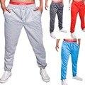 Pantalon Homme Прямые Продажи Mid 2016 Осень Зима Новый Человек Досуг Сплошной Цвет Мужчины Бодибилдинг Брюки Мужские Длинные Брюки
