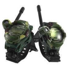 2pcs 7 In 1 Walkie Talkie Watch Camouflage Style Children Toy Kids Electric Strong Clear Range Interphone Kids Interactive Watch