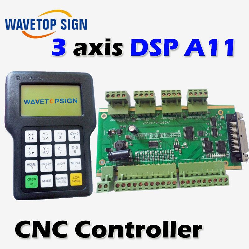 все цены на RichAuto DSP A11 CNC controller A11S A11E 3 axis controller for cnc router better than DSP 0501 controller онлайн