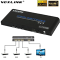 VOXLINK 2 k x 4 k UHD 3X1 HDMI Switch HDCP2.2 3D 1080 p 3 En 1 HDMI 2.0 Audio video Switcher Convertir con IR & Panel remoto control