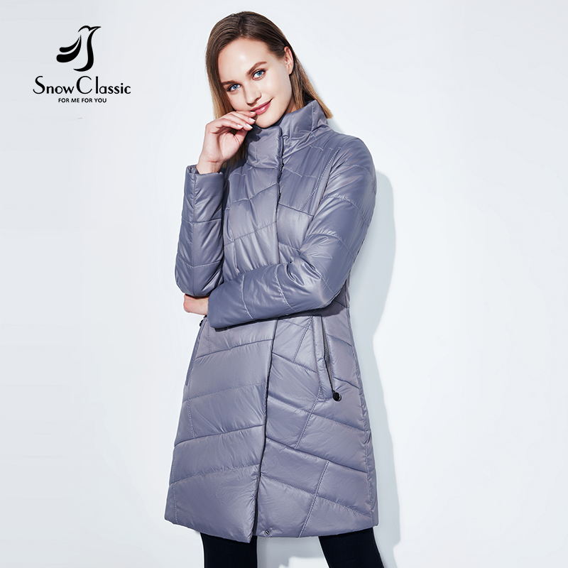SnowClassic new spring coat women s long fashion coat thin cotton warm coat short trench coat