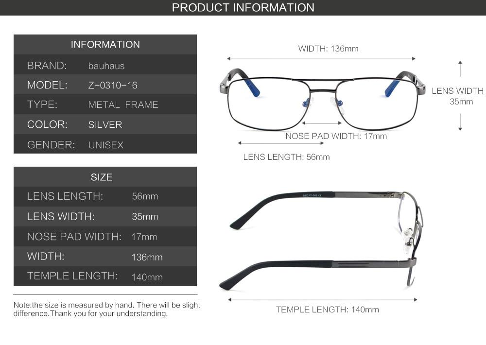 73950cec87 bauhaus Brand Prescription Glasses Frames Aluminium Magnesium Alloy ...