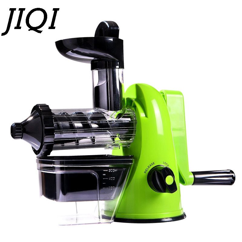 JIQI Manual Juicer Mini Hand Crank Lemon Citrus Orange Squeezer DIY Fresh Fruit Vegetable Juice Slow Pressing Extractor Machine цена 2017